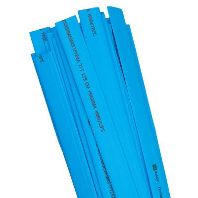Термоусаживаемая трубка ТУТ нг 12/6 синяя в отрезках по 1м EKF PROxima; tut-12-g-1m