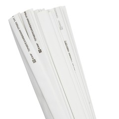 Термоусаживаемая трубка ТУТ нг 12/6 белая в отрезках по 1м EKF PROxima