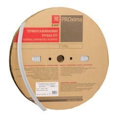 Термоусаживаемая трубка ТУТ нг 12/6 белая рулон EKF PROxima