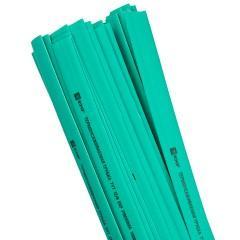 Термоусаживаемая трубка ТУТ нг 16/8 зеленая в отрезках по 1м EKF PROxima