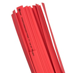 Термоусаживаемая трубка ТУТ нг 16/8 красная в отрезках по 1м EKF PROxima