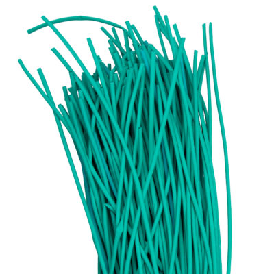 Термоусаживаемая трубка ТУТ нг 2/1 зеленая в отрезках по 1м EKF PROxima; tut-2-j-1m