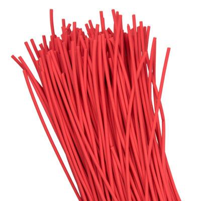 Термоусаживаемая трубка ТУТ нг 2/1 красная в отрезках по 1м EKF PROxima; tut-2-r-1m