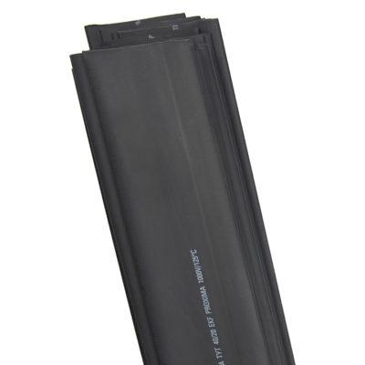 Термоусаживаемая трубка ТУТ нг 20/10 черная в отрезках по 1м EKF PROxima; tut-20-b-1m