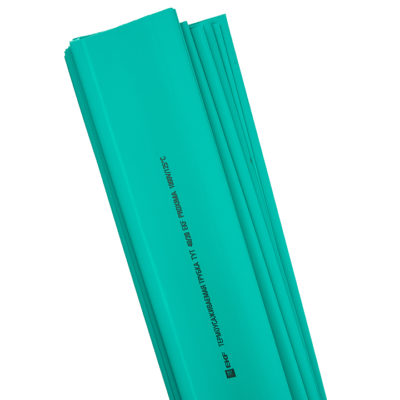 Термоусаживаемая трубка ТУТ нг 20/10 зеленая в отрезках по 1м EKF PROxima; tut-20-j-1m
