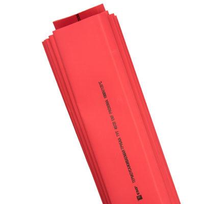 Термоусаживаемая трубка ТУТ нг 20/10 красная в отрезках по 1м EKF PROxima; tut-20-r-1m