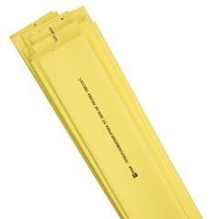 Термоусаживаемая трубка ТУТ нг 20/10 желтая в отрезках по 1м EKF PROxima