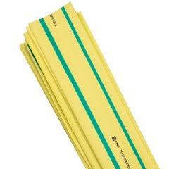 Термоусаживаемая трубка ТУТ нг 20/10 желто-зеленая в отрезках по 1м EKF PROxima