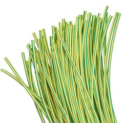 Термоусаживаемая трубка ТУТ нг 4/2 желто-зеленая в отрезках по 1м EKF PROxima