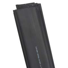 Термоусаживаемая трубка ТУТ нг 40/20 черная в отрезках по 1м EKF PROxima
