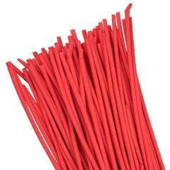 Термоусаживаемая трубка ТУТ нг 6/3 красная в отрезках по 1м EKF PROxima