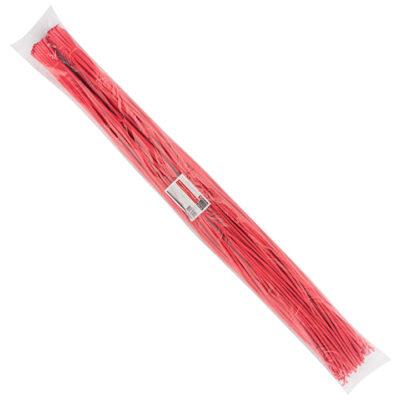 Термоусаживаемая трубка ТУТ нг 6/3 красная в отрезках по 1м EKF PROxima; tut-6-r-1m