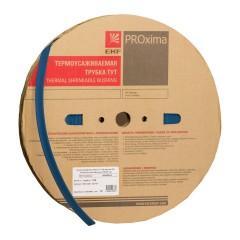 Термоусаживаемая трубка ТУТ нг 8/4 синяя рулон EKF PROxima