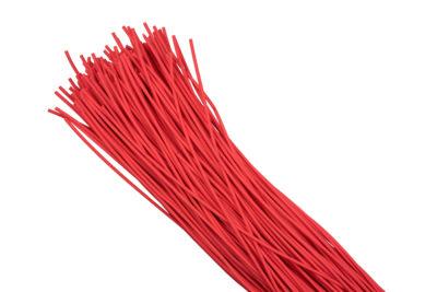 Термоусаживаемая трубка ТУТ нг 8/4 красная в отрезках по 1м EKF PROxima; tut-8-r-1m