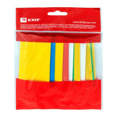 Термоусаживаемая трубка ТУТ нг 20/10 набор:7 цветов по 3шт. 100мм. EKF PROxima; tut-n-20