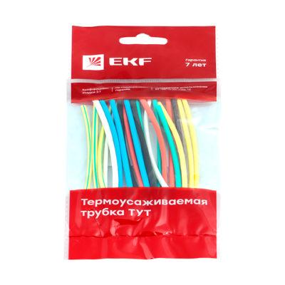 Термоусаживаемая трубка ТУТ нг 2/1 набор:7 цветов по 3шт. 100мм. EKF PROxima; tut-n-2