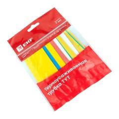 Термоусаживаемая трубка ТУТ нг 30/15 набор:7 цветов по 3шт. 100мм. EKF PROxima