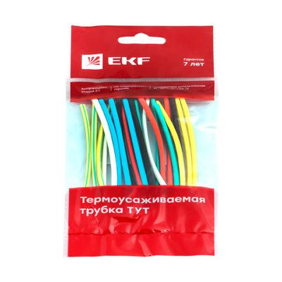 Термоусаживаемая трубка ТУТ нг 4/2 набор:7 цветов по 3шт. 100мм. EKF PROxima; tut-n-4