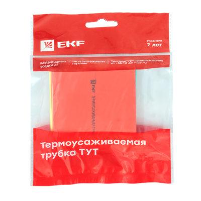 Термоусаживаемая трубка ТУТ нг 50/25 набор:7 цветов по 3шт. 100мм. EKF PROxima; tut-n-50