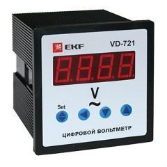 VD-721 Вольтметр цифровой на панель (72х72) однофазный EKF PROxima