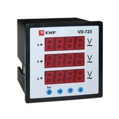 VD-723 Вольтметр цифровой на панель (72х72) трехфазный EKF PROxima