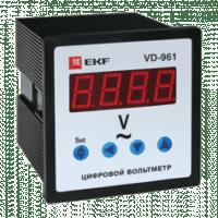 VD-961 Вольтметр цифровой на панель (96х96) однофазный EKF PROxima