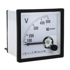 Вольтметр VMA-721 аналоговый на панель (72х72) квадратный вырез 300В прямое подкл. EKF PROxima