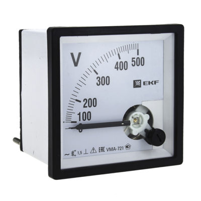 Вольтметр VMA-721 аналоговый на панель (72х72) квадратный вырез 300В прямое подкл. EKF PROxima; vma-721-300