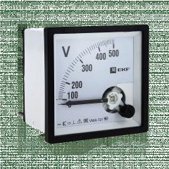 Вольтметр VMA-721 аналоговый на панель (72х72) квадратный вырез 500В прямое подкл. EKF PROxima