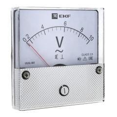 Вольтметр VMA-801 аналоговый на панель (80х80) круглый вырез 500В прямое подкл. EKF PROxima