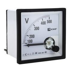 Вольтметр VMA-961 аналоговый на панель (96х96) квадратный вырез 300В прямое подкл. EKF PROxima