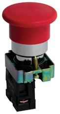 Кнопка BC42 грибок красная NC EKF PROxima