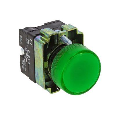 Лампа сигнальная BV63 зеленая EKF PROxima; xb2-bv63