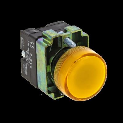 Лампа сигнальная BV65 желтая EKF PROxima; xb2-bv65